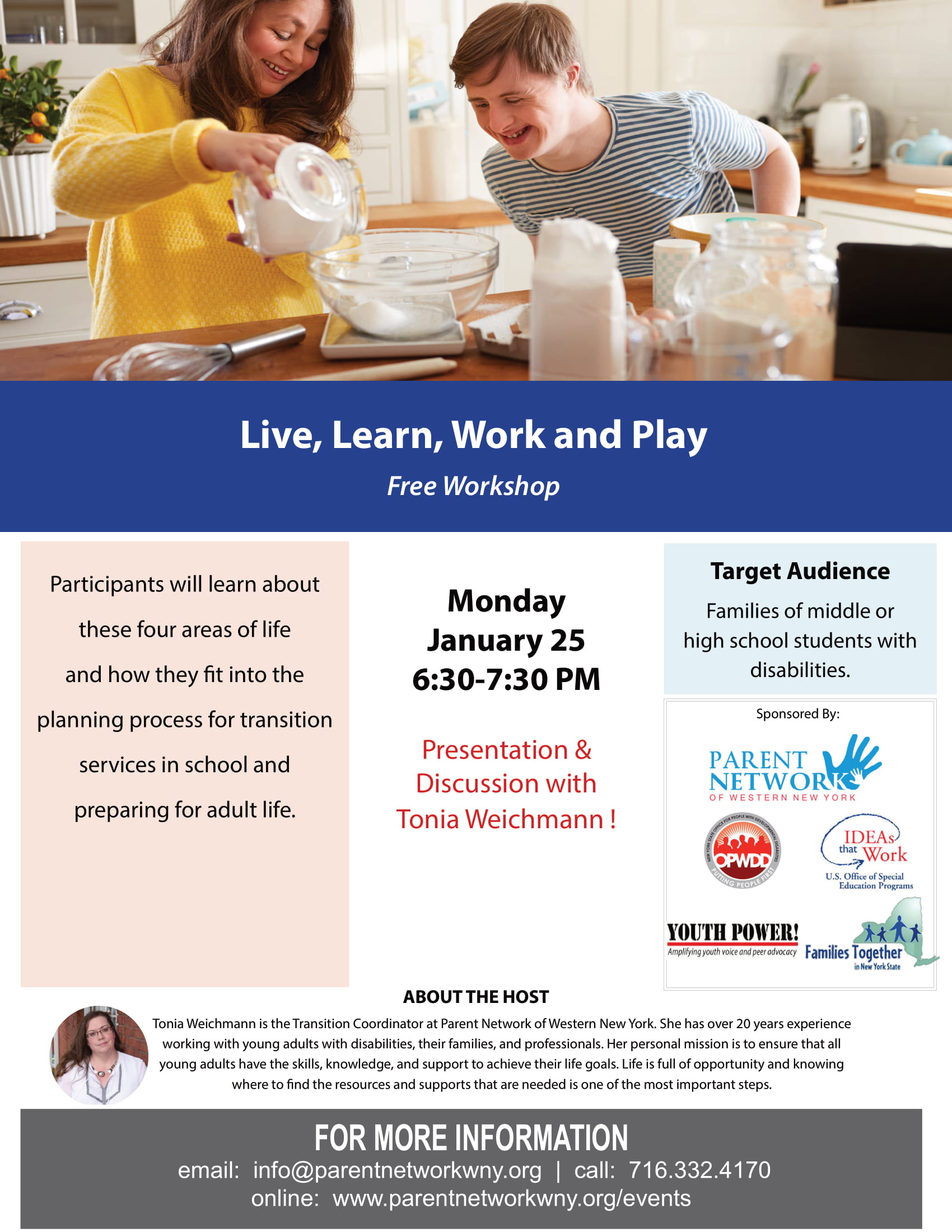 live learn work play flyer