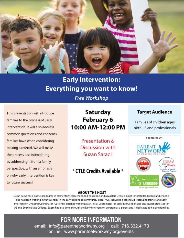 flyer for early intervention