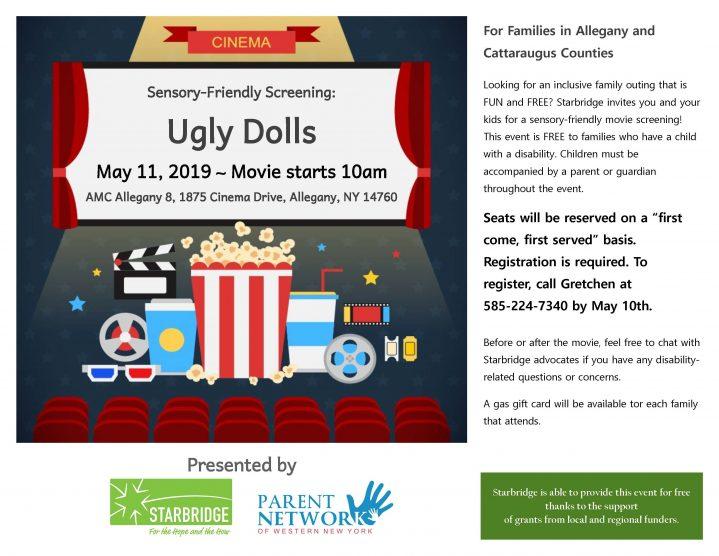 Ugly Dolls Screening flyer