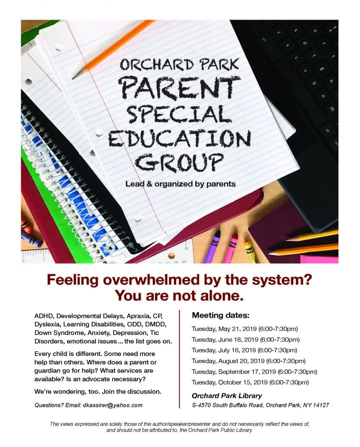 flyer for support group