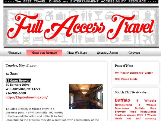 Full Access Travel website