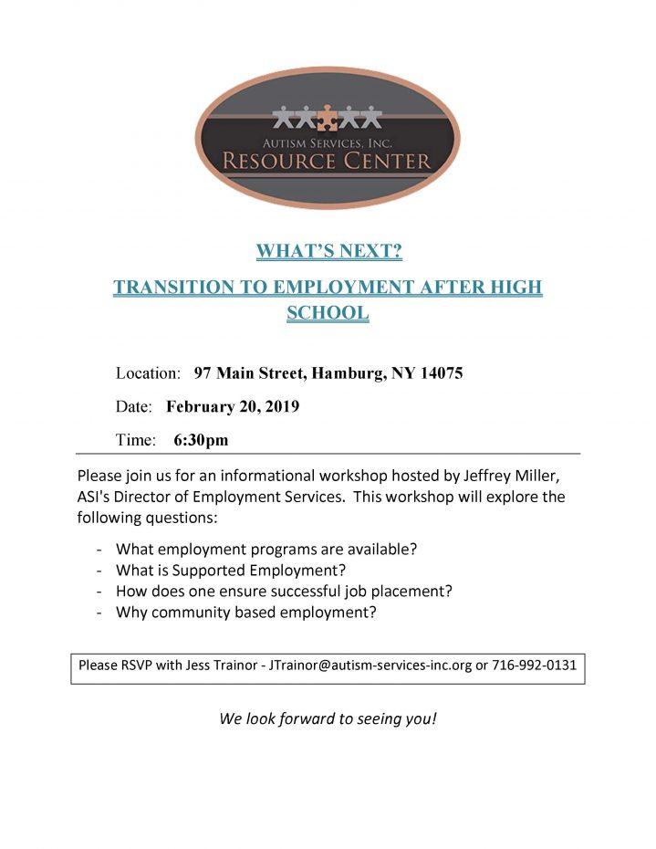 employment workshop flyer