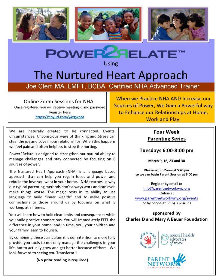 Nurtured Heart Spring 2021 flyer