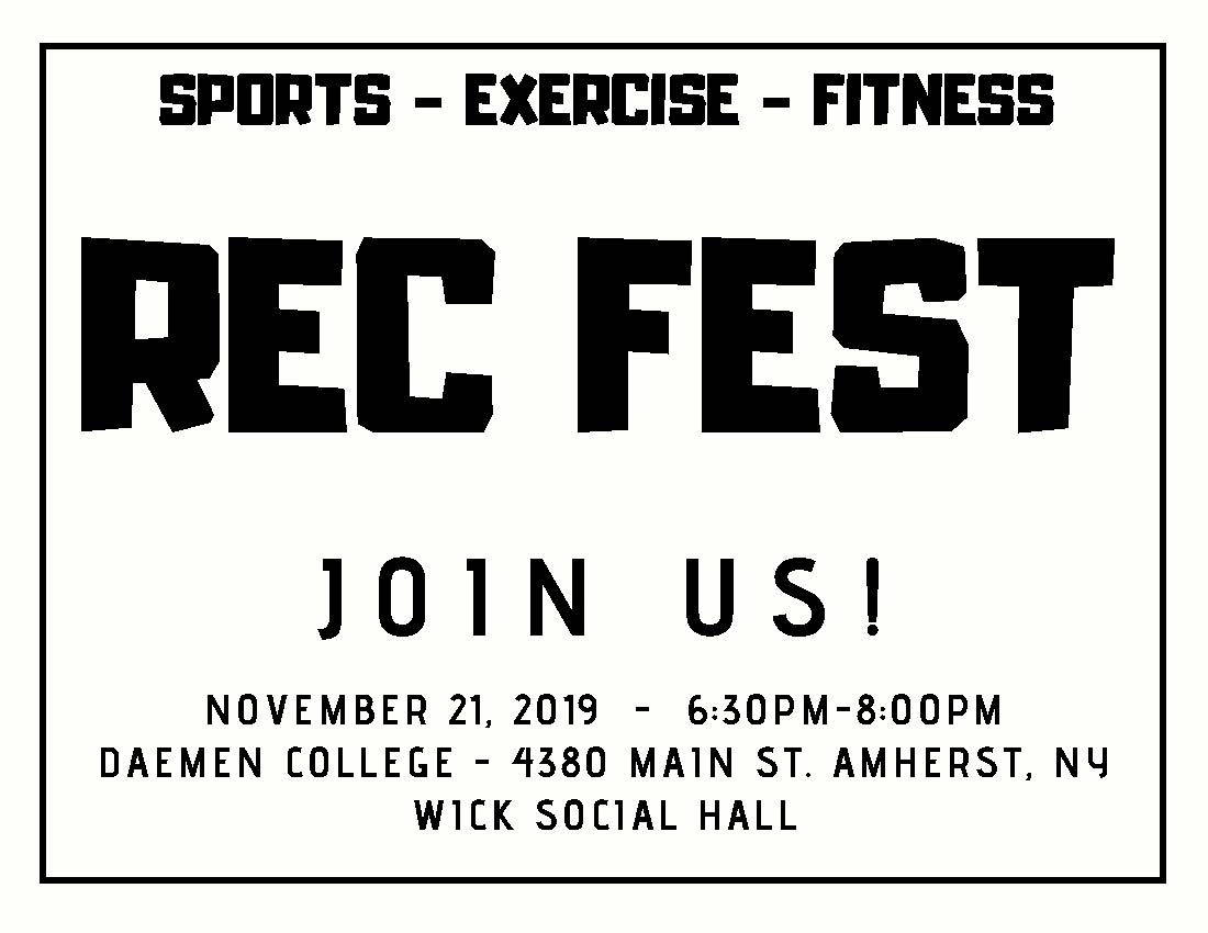 join us for rec fest on november 21
