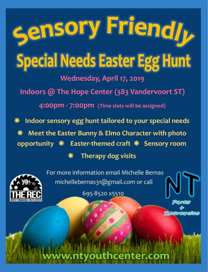 Sensory Easter Egg Hunt flyer