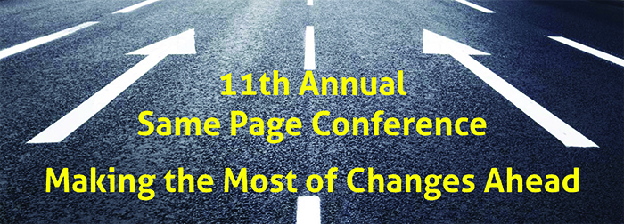 same page conference title