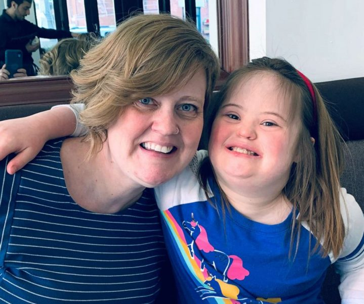 Melissa Winchell and her daughter Moriah who has down syndrome and autism